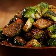 Roasted Brussels Sprouts With Bacon & Balsamic Glaze — Brussels Sprouts Recipes — QVC.com