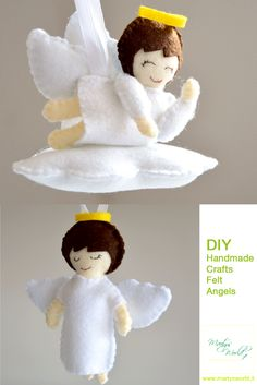 Little angel- Angioletto in pannolenci #felt #Handmade #crafts #diy #angel
