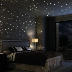 203 Stk. fluoreszierende Sterne Wandtattoo