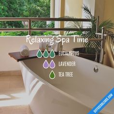 Relaxing Spa Time — Essential Oil Diffuser Blend
