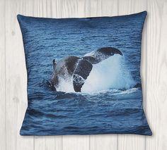 Nautical Whale Pillow Cover - Coastal Decor - x Pillow Inserts, Pillow Covers, Whale Pillow, Dragon Tales, Nautical Pillows, Joann Fabrics, Coastal Decor, Craft Stores, Needlepoint