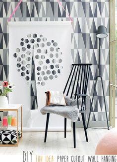 Diy fun idea: paper cutout wallhanging. J110 armchair by Hay. #Hay #Tdtesta