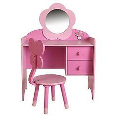 Genérico Escritorio + Silla infantil rosado