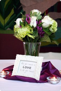 love quotes in the centerpiece