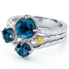 SR13633 Tacori 18k925 Island Rains Ring for about $370