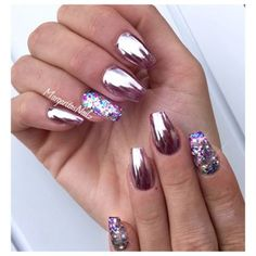 Nail art: unhas cromadas
