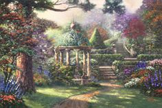Thomas Kinkade, is painting are beautiful.  I have some 'small ones' in my home.