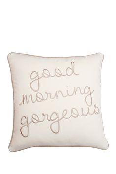 """Hood Morning Gorgeous Velvet 18"""" x 18"""" Pillow by Thro Home on @HauteLook"""