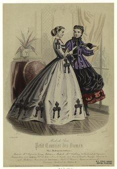 """""""Modes de Paris"""", Petit Courrier des Dames, 1866; NYPL 803674"""