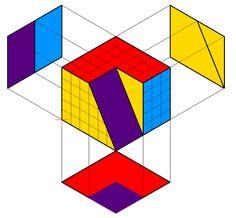 Geometric Drawing, Geometric Art, Architecture Drawing Sketchbooks, Architecture Portfolio, Architectural Presentation, Architectural Models, Architectural Drawings, Isometric Drawing Exercises, Orthographic Drawing