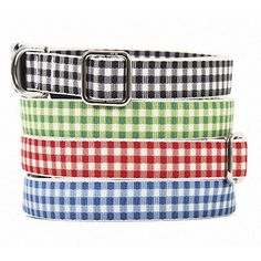 Gingham Pet Collar by Ballard Designs  I  ballarddesigns.com
