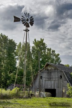 Old barn and big weather vane