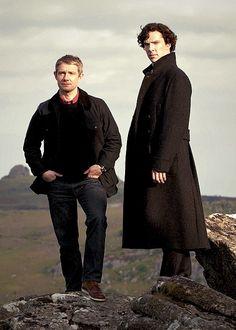 Sherlock Holmes and Dr. John Watson ~ Sherlock ~ Benedict Cumberbatch and Martin Freeman
