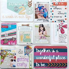 Scrap Happy Hippie: Project Life 2013 - Week 28 - left page
