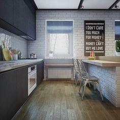 kitchen white brick - Buscar con Google