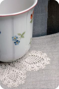 Vintage Crochet Coasters with your tea?