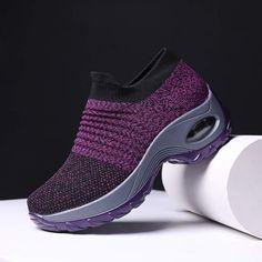 Women's Walking Shoes Sock Sneakers - Mesh Slip On Air Cushion Lady Girls Modern Jazz Dance Easy ...