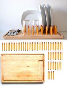 Un montón de lápices y una tabla de madera. ¿Ideas? Aquí tienes una