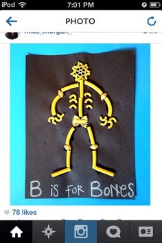Kids crafts, bone and macaroni craft. Dr. Chuck Crawford, pediatric dentist, Rock Hill & Fort Mill, SC @ www.drchuck4kids.com