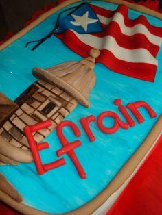 puerto rican birthday ideas | El Morro- Puerto Rico cake