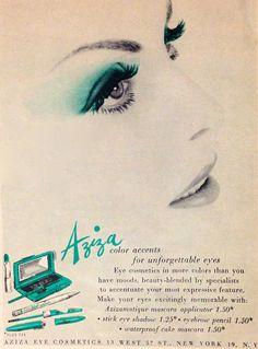 Aziza Cosmetics 'Color Accents' Ad, 1959