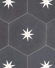 Baldosa hidraulica hexagonal pared baño