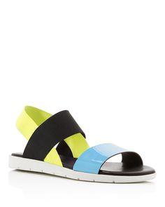 Furla Magia Strappy Flatform Sandals - Furla elevates fashion-forward flatform sandals with glossy pops of patent leather.