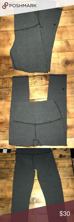 Lulu lemon Leggings Worn 5-6 times. Cropped dark grey lululemon athletica Pants Capris