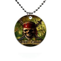 Pirates of the Caribbean Custom Fashion HOT Round dog tag pet tag Necklaces pendant Bead Chain Gift ** Continue to the product at the image link. (Note:Amazon affiliate link) #DogIDTags