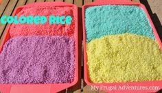 Children's Craft Idea: Colored Rice