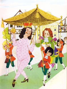 'The Emperor's New Clothes' Pestalozzi Publishing, 1981, Germany Illustration by Anny Hoffmann