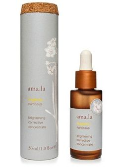Amala Brightening Corrective Concentrate.  This concentrated, radiance-boosting serum helps diminish the look of dark spots and discolorations for more even skin tone and healthy, youthful luminosity.