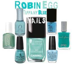 Tiffany Blue #nails nails by http://www.bootcampmedia.co.uk/