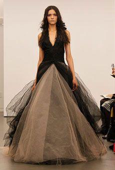 Vera Wang's Black Wedding Gown