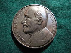 Poland medal President PROFESOR IGNACY MOSCICKI 1926-1936 10 year Silver 950 Cir