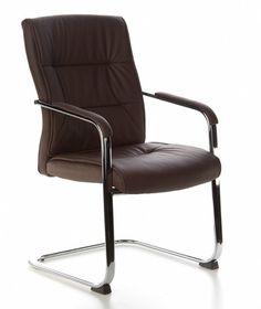 Konferenzstuhl / Besucherstuhl SEATTLE V PU dunkelbraun (2erPack/2 Stühle) hjh OFFICE - hjh OFFICE