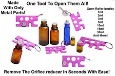 Amazon.com: Essential Oil Roller Ball and Bottle Opener - 1 METAL Purple Key…