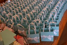 Tiffany blue party favor bags by steppnout on Etsy