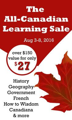Finally... a Canadian Curriculum sale! Canadian homeschoolers | Homeschooling in Canada | Canadian Social Studies | Canadian History | Canada Unit Study | Canada Lap Book | Canadian Resources