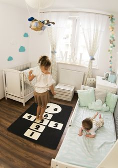 Check out our rugs selection for the very best in unique or custom, handmade pieces from our shops. Hopscotch, Games For Kids, Baby Room, Kids Room, Toddler Bed, Sweet Home, Carpet, Rugs, Etsy