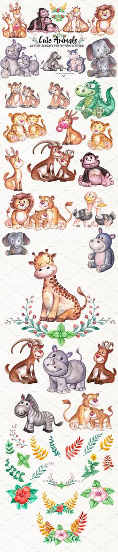 Cute Animals  by iGRAPHOBIA on @creativemarket