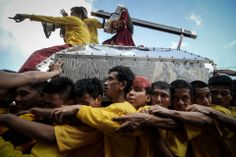 Christians took part in a procession in Manila on Tuesday. Ezra Acayan/Zuma Press