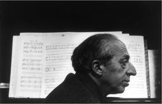 Photo of composer Aaron Copeland by Arnold Newman
