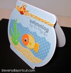 Swimming by to Say Hi Card