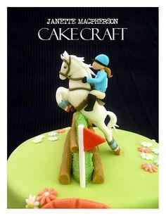 Cross Country Horse Jumping Cake - I want this! Cupcakes, Cupcake Cakes, Renn Kuchen, Marzipan, Fondant, Horse Birthday, 50th Birthday, Pony Cake, Horse Cake