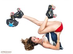 Roller Derby Girl (18 x 24 Poster) from AFREEMAN Photography on Storenvy