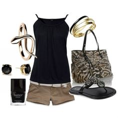 """black and gold!"" by lagu on Polyvore - Click image to find more fashion posts"