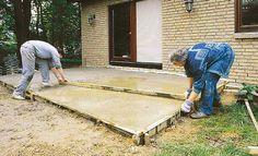 Bodenplatte betonieren: Schritt 7 von 8