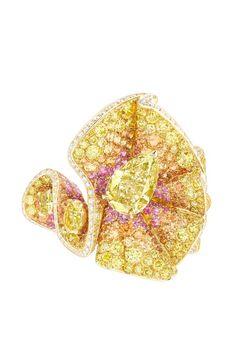 Dior's trompe l'oeil yellow diamond ring. [Courtesy Photo]