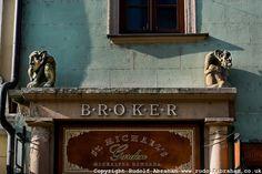 Gargoyles above doorway on Michalska Street, near St Michael's Gate, Bratislava, Slovakia